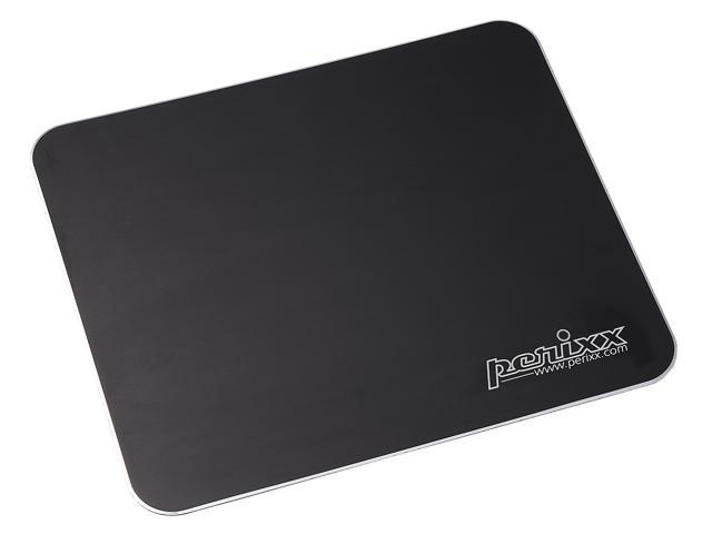 "Perixx DX-3000MB, Gaming Aluminum Black Mouse Pad - 9.84""x8.27""x0.08"" Dimension - Non-slip Rubber base - Micro Sand Blasting ..."