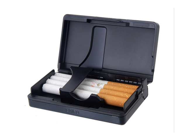 High Class Aluminum Cigarette Case (Black)