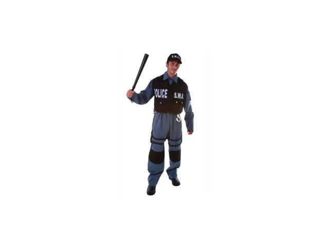 SWAT Police Officer Adult Halloween Costume Size XX-Large (XXL)