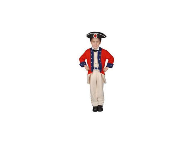 Pretend Deluxe Colonial Soldier Child Costume Dress-Up Set Size 4T
