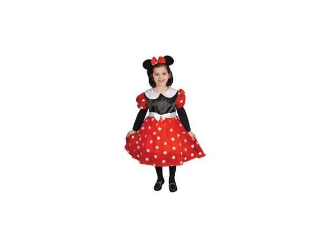 Pretend Deluxe Ms Mouse Child Costume Dress-Up Set Size 8-10