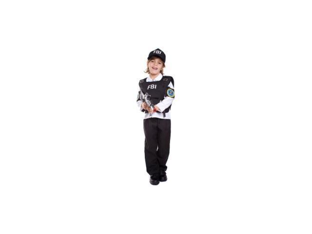 FBI Agent Child Costume Size Small 4-6