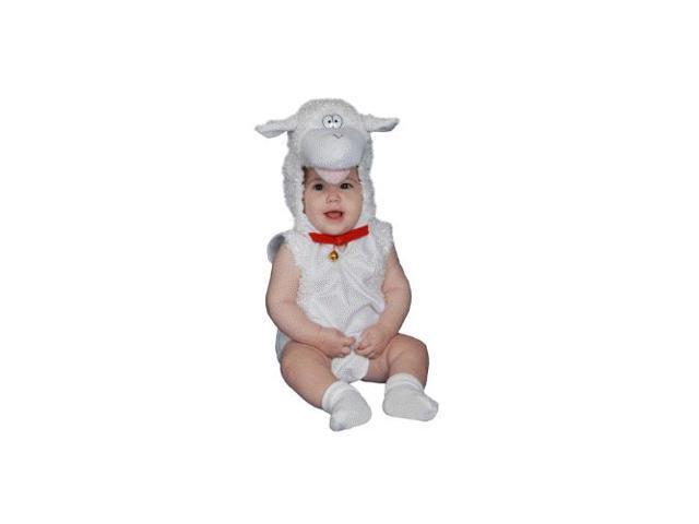 Baby Lamb Plush Infant Halloween Costume Size 0-6mo.
