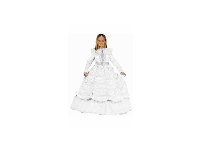 Luxurious White Cinderella Child Costume Size (4-6) Small