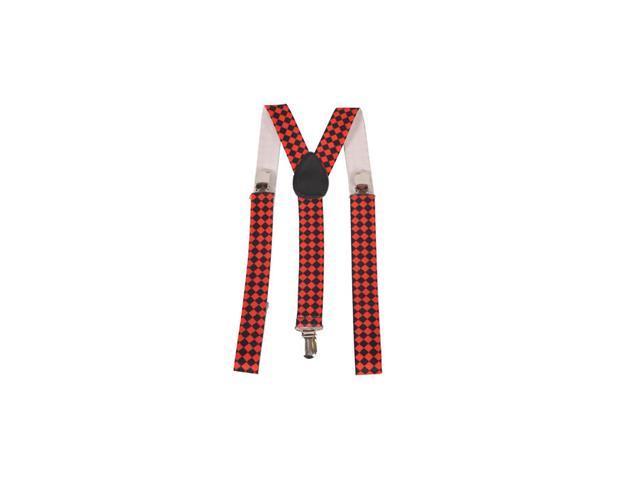 Diamond Checkerboard Suspenders Accessory
