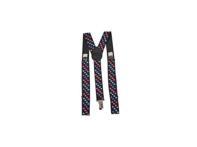 Tri Colored Heart Suspenders Accessory