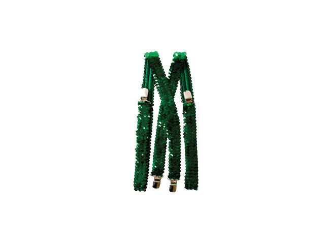 Green Sequined Suspenders Accessory