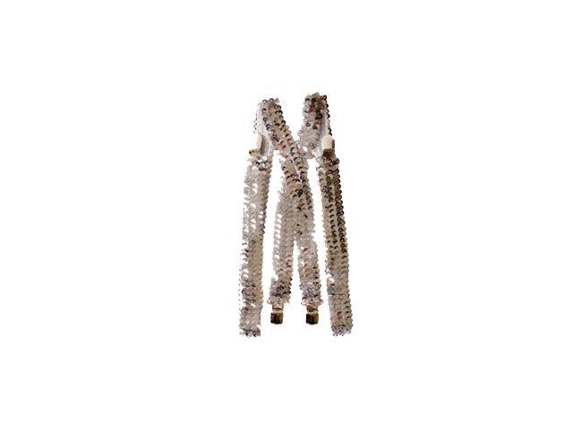 Silver Sequined Suspenders Accessory