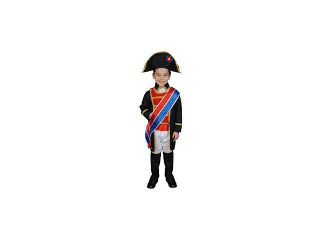 Napoleon Child Costume Size 4T Toddler )