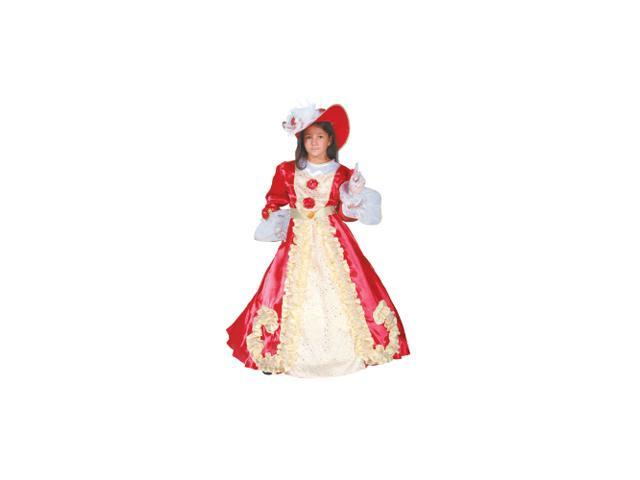 Noble Lady Princess Dress Child Halloween Costume Size 4-6 Small