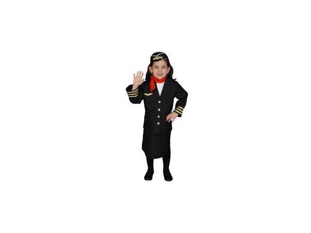 Airline Flight Attendant Toddler Costume Size 4T