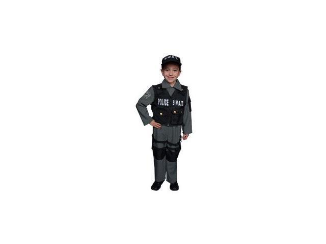 SWAT Police Set Child Costume Size 8-10 Medium