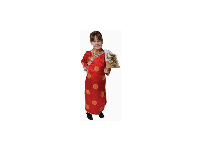 Pretend Deluxe Chinese Geisha Girl Toddler Costume Dress-Up Set Size 4T