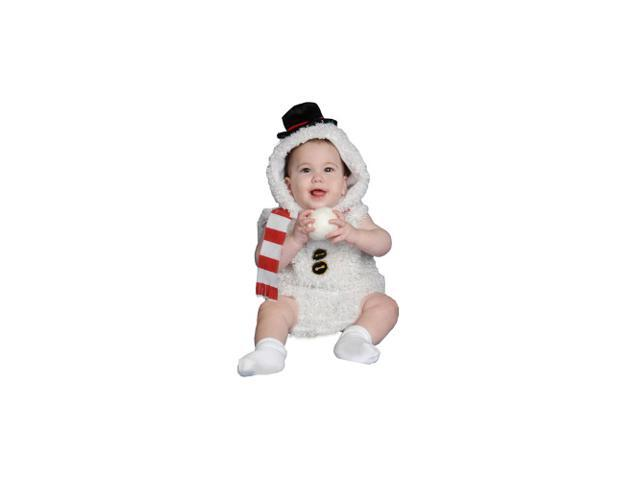 Baby Snow Man Infant Costume Size 6-12m
