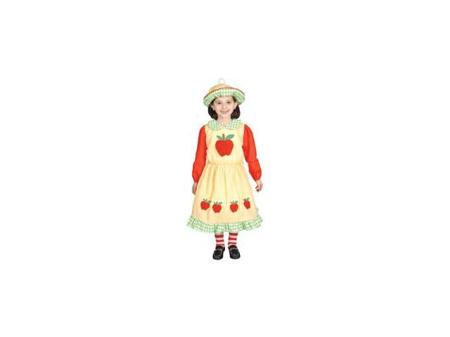 Pretend Deluxe Apple Dress Child Costume Dress-Up Size Large (12-14)