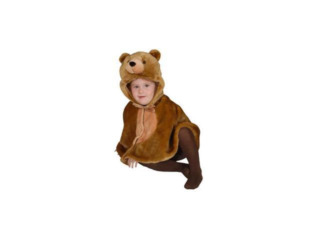 Cuddly Little Brown Bear Infant Cape Costume Size 12-24mo