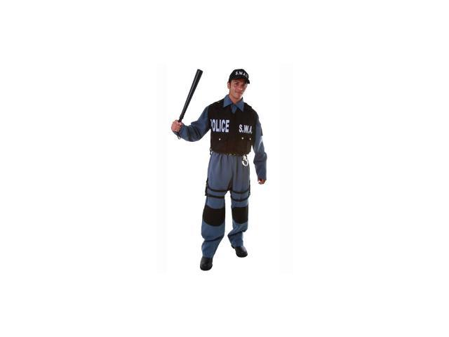 SWAT Police Officer Adult Halloween Costume Size Large