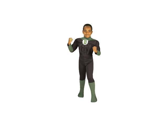 Child Muscle Chest Green Lantern Costume Rubies 882391