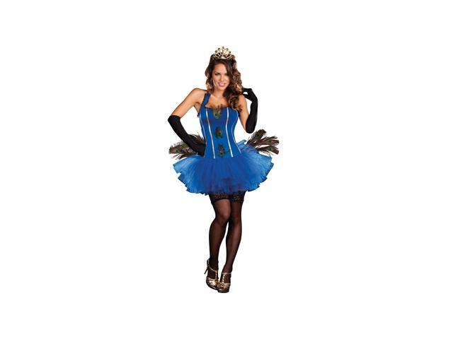Royal Peacock Adult Costume Size 14-16 X-Large