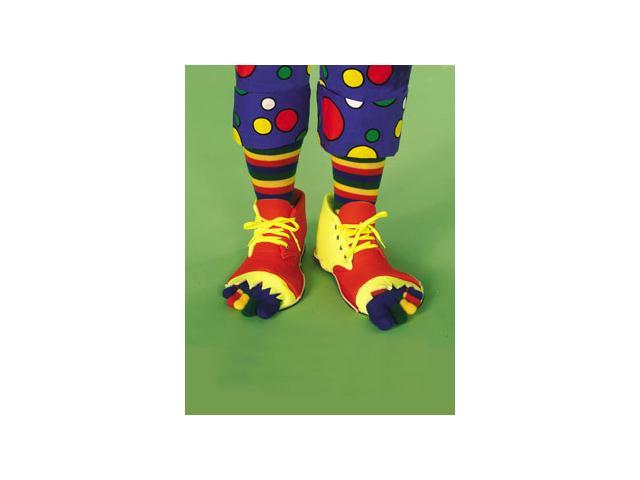 Clown Shoes and Toe Sock Set Accessory