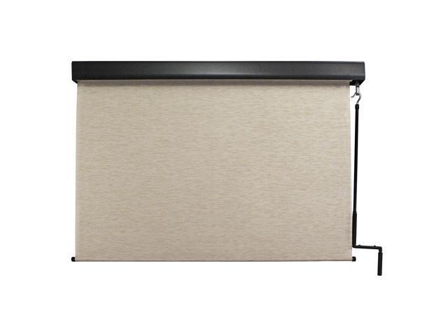 Keystone Fabrics, Pole operated, valanced exterior sunshade, 8' wide x 8' drop