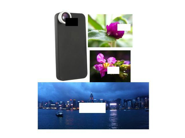 Wide Angle + Macro + Hard Case Lens Set Specific for Apple iPhone 4S 4 4G Mobile Smart Cell Phone Optical Tailor Custom Made Screw On Threaded Detachable Camera Photo Objective
