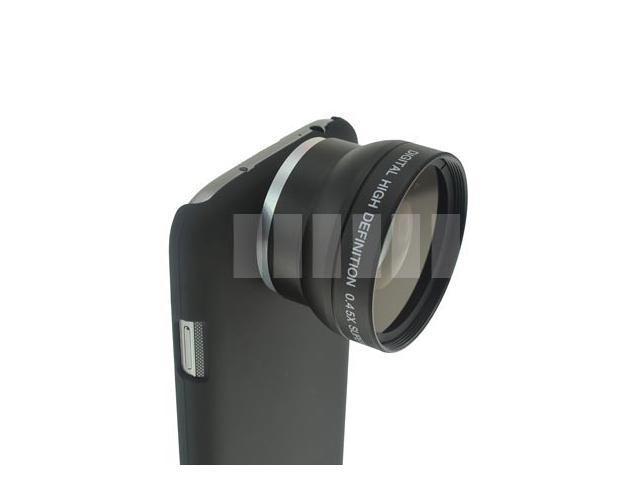 BigOptic 0.45X Wide Angle + Macro Lens + Case Specific for Samsung Galaxy S4 Siv i9500 i9505 LTE I337 L720 M919 I545 37mm ...