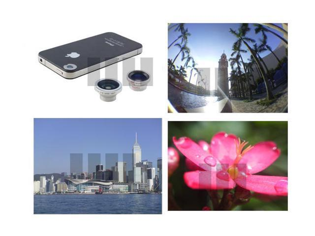 Fisheye + Wide Angle + Macro Lens for Smartphone Smart Cell Phone Tablet Pocket Camcorder Camera Apple iPad Mini 4 iPod Touch ...