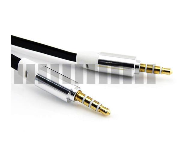 1M 3.3Ft Gold Plated 3.5mm Audio Jack AUX Male to Male Extension Stereo Cable for Headphone Headset Tablet Mobile Cell Phone ... - OEM