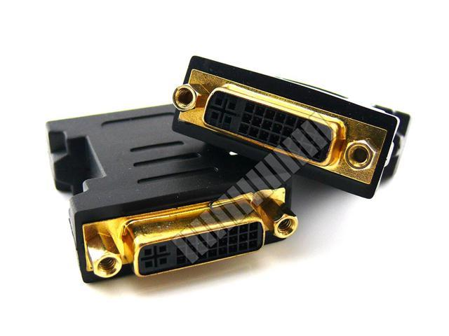 DVI 24+5 Pin Female to DVI 24+5 Pin Female Connector Adapter for HDTV LCD Monitor Extension Adapter Coupler - OEM