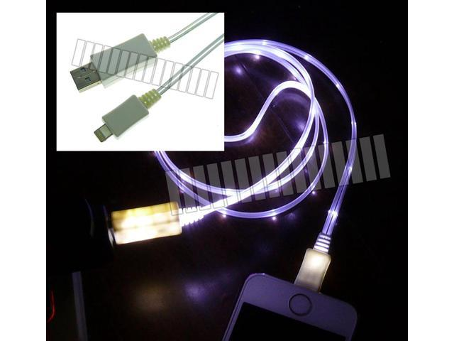 White 3Ft 1M 8 Pin Lightning Data Sync Charge LED Cable to USB Male Apple iPhone 6S Plus 6 SE iPad Air 2 Mini iPod Touch ...