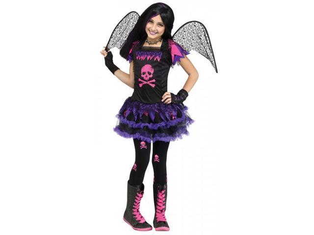 Pink Skull Fairy Child Costume