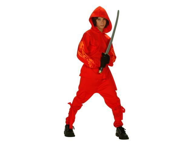 RG Costumes 90192-S Small Child Flaming Ninja Glow Costume