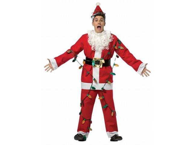 National Lampoons Christmas Vacation-Light Up Santa Suit Adult Costume