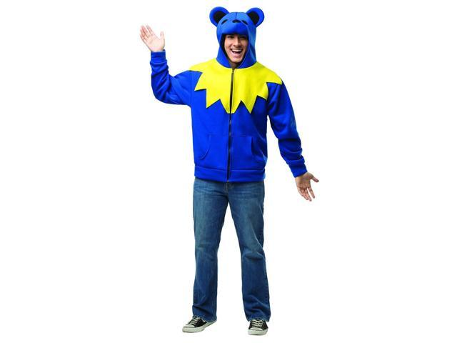 Grateful Dead Bear Hoodie Blue Costume