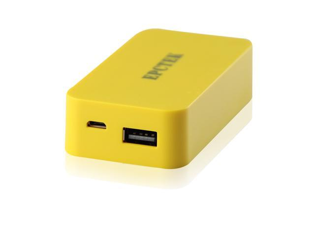 CBD 5200mah LA201 Yellow Portable Supply External USB Backup Battery Charger Power Bank For Smartphone  LG  HTC  Sony
