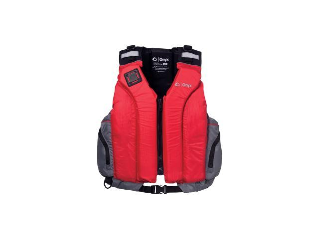 Onyx 5030 Riverton Paddle Sports Vest - For Swimming, Sailing, Boating - Large (L)/Extra Large (XL) Size for Adult - 90.00 lb Minimum Buoyancy - Nylon, Foam, Neoprene Panel, Shoulders - Gray, Red