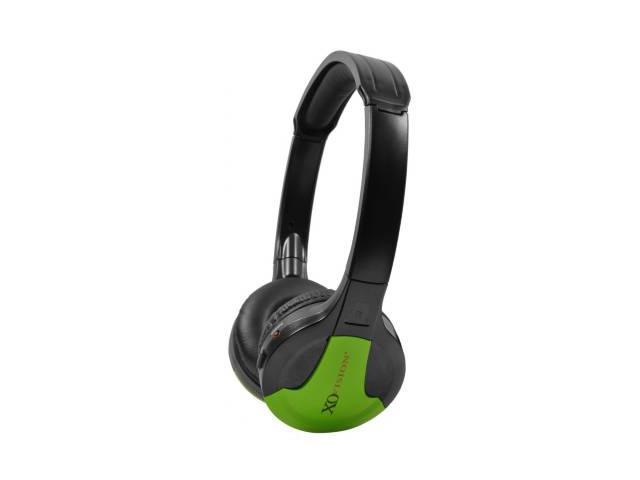 XO Vision Green IR630G Universal IR Wireless Foldable Headphones, Green
