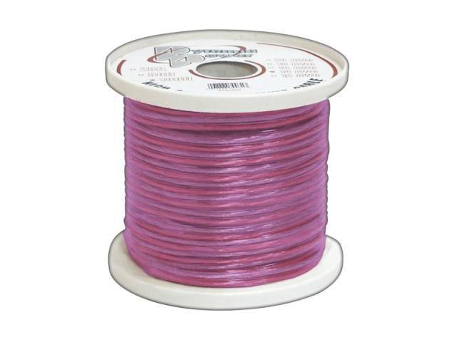 Pyle Rsw18500 18 Ga 500' Spool Car Audio Translucent Purple Speaker Wire