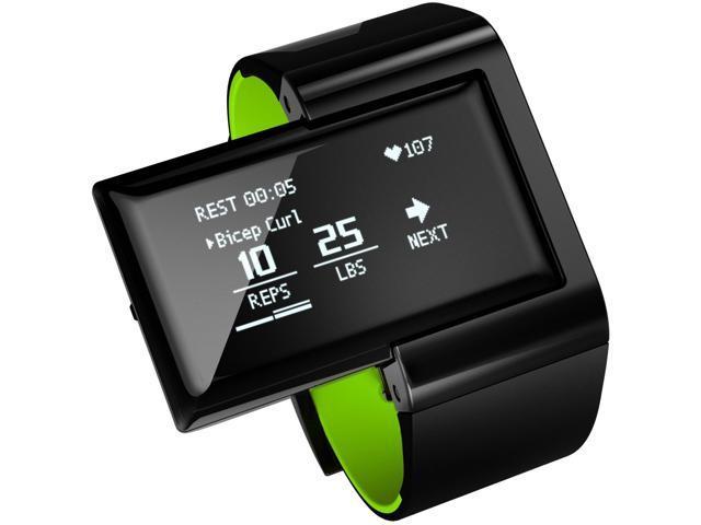 ATLAS Wristband 2: Digital Trainer+Heart Rate Band Smart Watch - Green