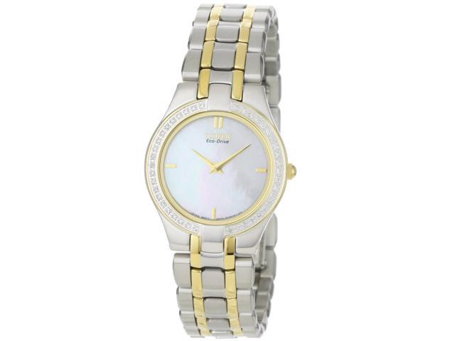 Citizen Eco-Drive Stiletto 42 Diamonds Mother-of-pearl Dial Women's watch #EG3154-51D