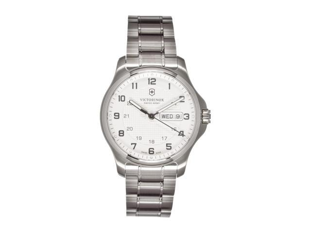 Victorinox Swiss Army Men's Officer's Stainless Steel Watch w/ Pocket Knife