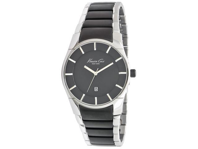 Kenneth Cole Mens Gunmetal Dial Stainless Steel Analog Watch