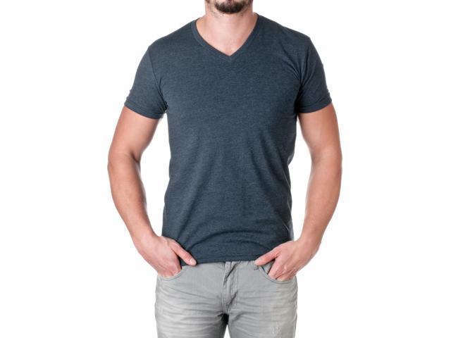 Next Level Apparel Men's Premium Cotton Blend V-Neck Shirt, Midnight Navy, Size X-Large