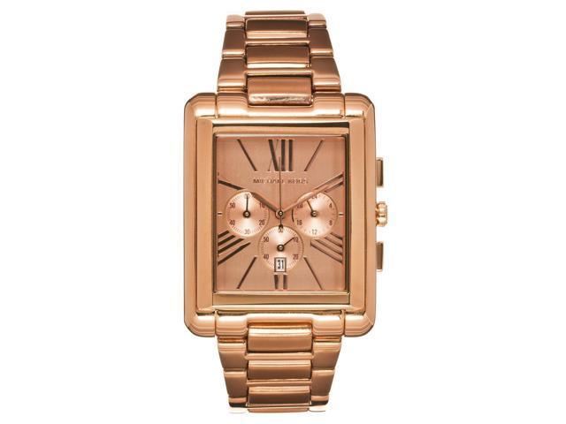 Michael Kors Womens Bradley Rose Gold-tone Stainless Steel Chronograph Watch