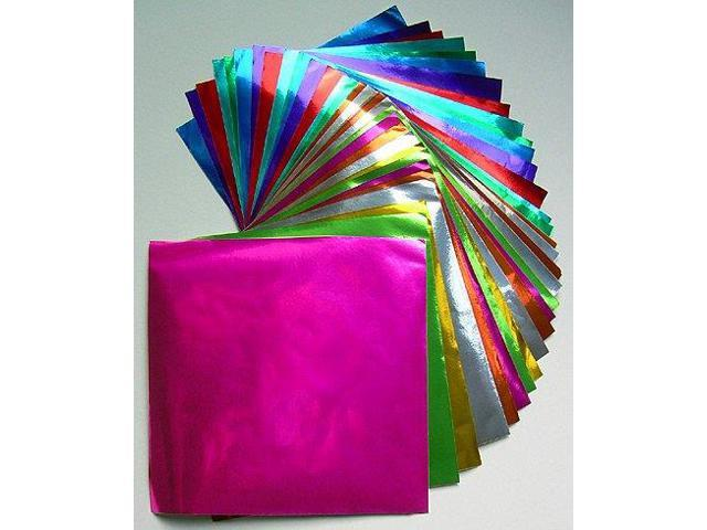 Color Foil Origami- 18 Sheets 9-3/4 Inch Square