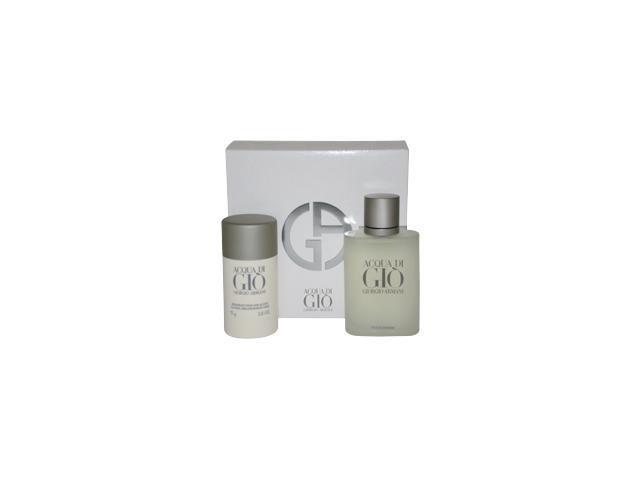 Acqua Di Gio By Giorgio Armani For Men - 2 Pc Gift Set 3.4oz Edt Spray, 2.6oz Deodorant Stick