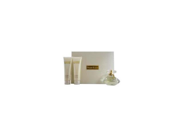 Perry Ellis by Perry Ellis for Women - 3 Pc Gift Set 3.4oz EDP Spray, 3oz Luminous Body Lotion, 3oz Luminous Shower Gel