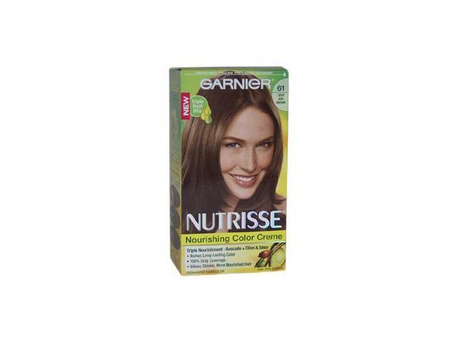 Garnier U-HC-4306 Nutrisse Nourishing Color Creme No. 61 Light Ash Brown - 1 Application - Hair Color