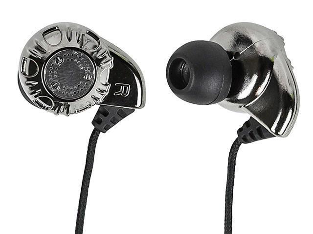 Monoprice Enhanced Bass Hi-Fi Noise Isolating Earphones Silver MEP-933, 8320 NEW